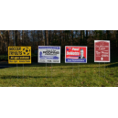 "Note: 18x24"" size TuffCor yard signs shown"